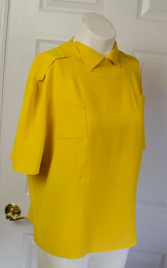 Vintage 1930's Yellow Crepe Woman's Bonwit Teller… - image 5