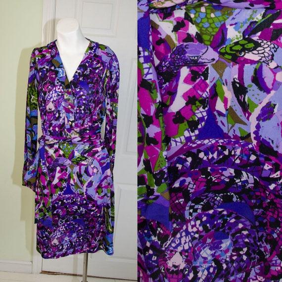 Vintage 1960's Designer Ken Scott Ban-Lon Purple S