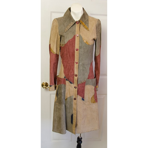 Rare 1970's Miura Woman's Suede Leather Patchwork