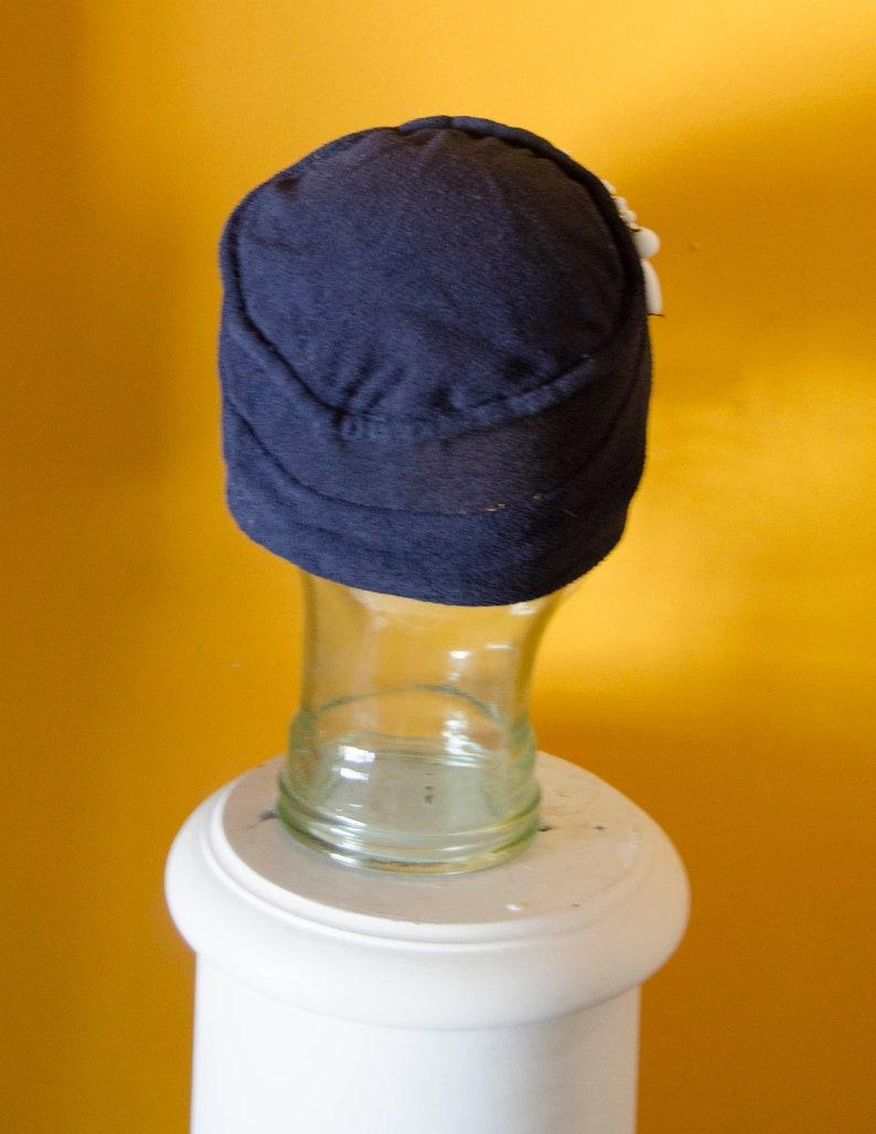 Vintage 1920/'s 1930/'s Gabardine Skull Hat with Beads