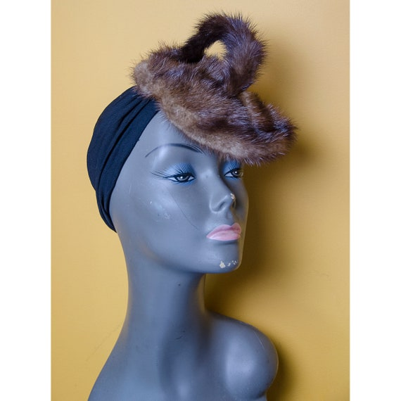 Eclectic 1940's  Jay Thorpe Fur Turban Style Hat