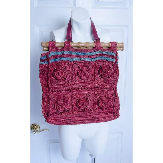 Vintage 1990's Jamin Puech Macrame Straw Handbag