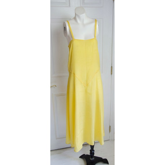 Vintage 1920's 1930's Woman's Yellow Silk Slip