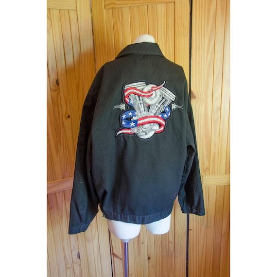 Vintage Men's Dickie Work Jacket with Large Embroi