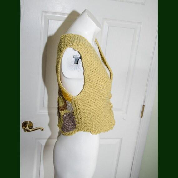 Vintage 1970's Woman's Crochet Sweater Vest XS - image 3