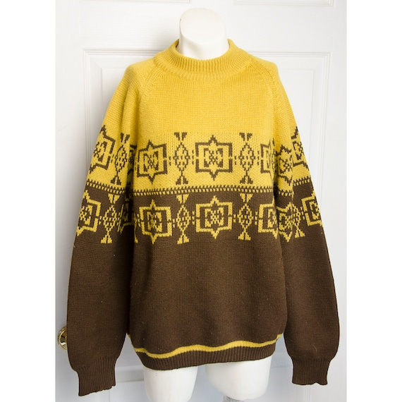 Vintage 1960's Brown and Mustard Mens Ski Winter S
