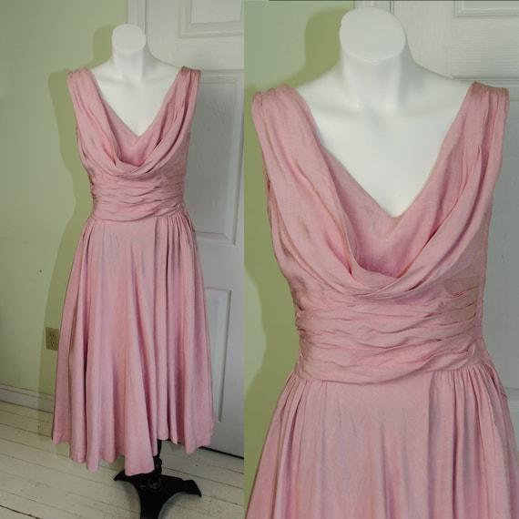 Vintage 1950's Woman's Pink Full Skirt Sleeveless