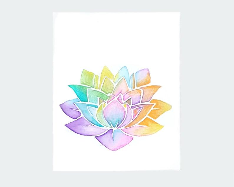 Lotus Flower Yoga Artwork Yoga Studio Decor Zen Office Decor Etsy