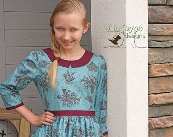 Autumn Glory Pepper Tween top, size girls 12 Ready To Ship RTS