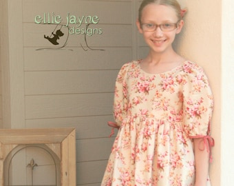 The Maisie Tunic Top in Rustic Blush   Custom sizes 12M to girls 10