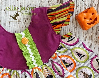 Witches Hats Butterfly dress  Ready to Ship  RTS  girls size 5