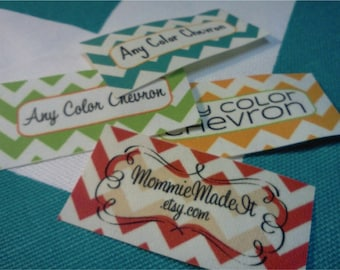 Custom Fabric Labels - Sew-On or Iron-On - Uncut - Free Customization Using Any Premade Design Shown