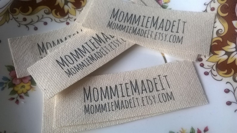 Organic Cotton Fabric Name Labels  Clothing Labels Made to image 0