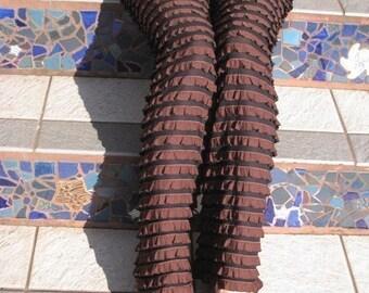 Chocolate Ruffled Pants