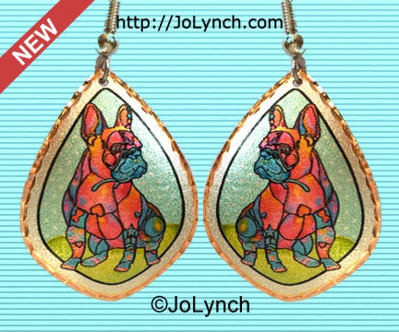 French Bulldog Earrings Whimsical