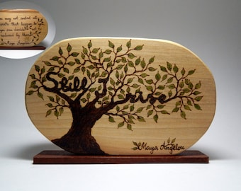 Back To Nature - Still I rise Maya Angelou - You may not control - stand alone ornament by Tanja Sova