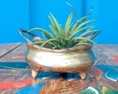 SALE-FREE SHIPPING-Vintage Small Brass Chinese Censer-Chinese Brass Incense Burner-Brass Air Plant Holder-Boho-Meditation-Hippie-Asian Decor