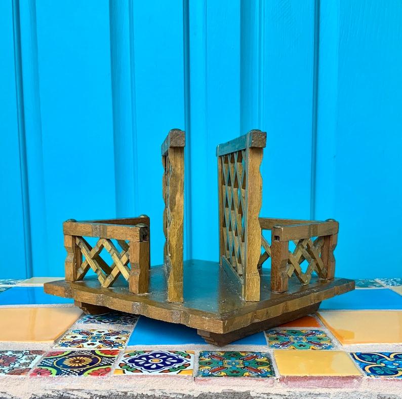 FREE SHIPPING-Vintage Unique Handmade Wood Lattice /& Brass Stud Napkin HolderLetter Holder-Kitchen Decor-Office Decor-Mid Century-Farmhouse