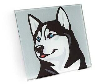 Une maison n/'est pas une maison sans un Husky Sibérien-boissons Coaster