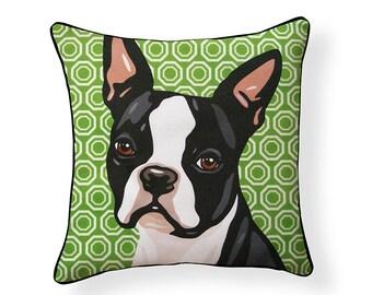 Pooch Decor: Boston Terrier Pillow