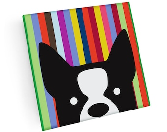Set of 4 Puppy Face Coasters