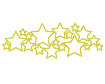 Stars Border Cut File (zip folder with .svg, .dxf, .png, .pdf, and .studio3 files)