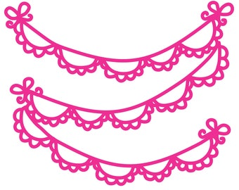 Scalloped Banner Cut File .SVG .DXF .PNG