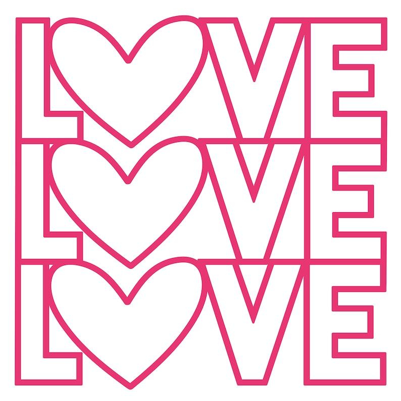 Love Love Love Cut File .SVG .DXF .PNG .pdf image 0