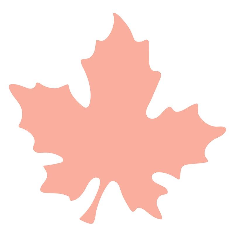 Large Leaf Cut File zip folder with .svg .dxf .png .pdf image 0