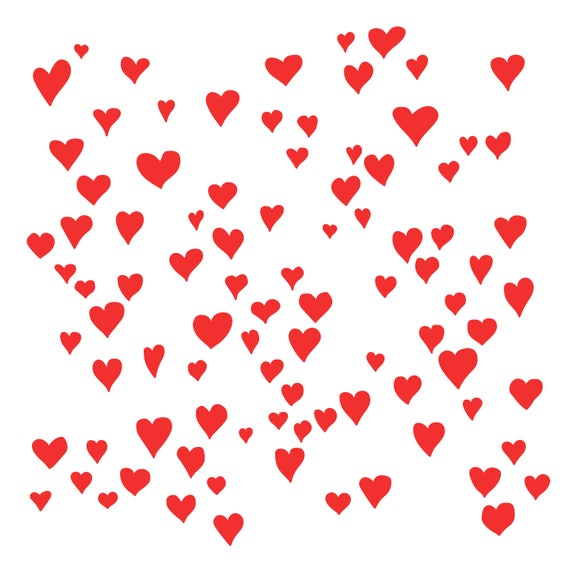 Hearts Background Cut File  SVG  DXF  PNG