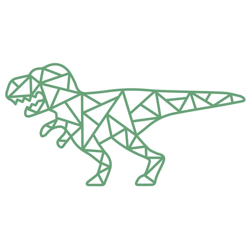 Geometric T-Rex Dinosaur Cut File .SVG .DXF .PNG .pdf image 0