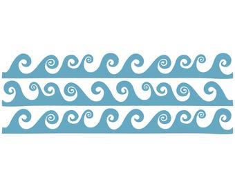 Waves Border Cut File .SVG .DXF .PNG