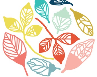 Dipped Leaves Cut File .SVG .DXF .PNG