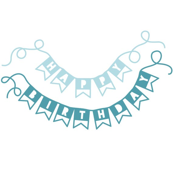 happy birthday banner cut file svg dxf png etsy
