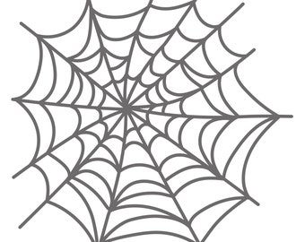Spiderweb Cut File (zip folder with .svg, .dxf, .png, .pdf, and .studio3 files)