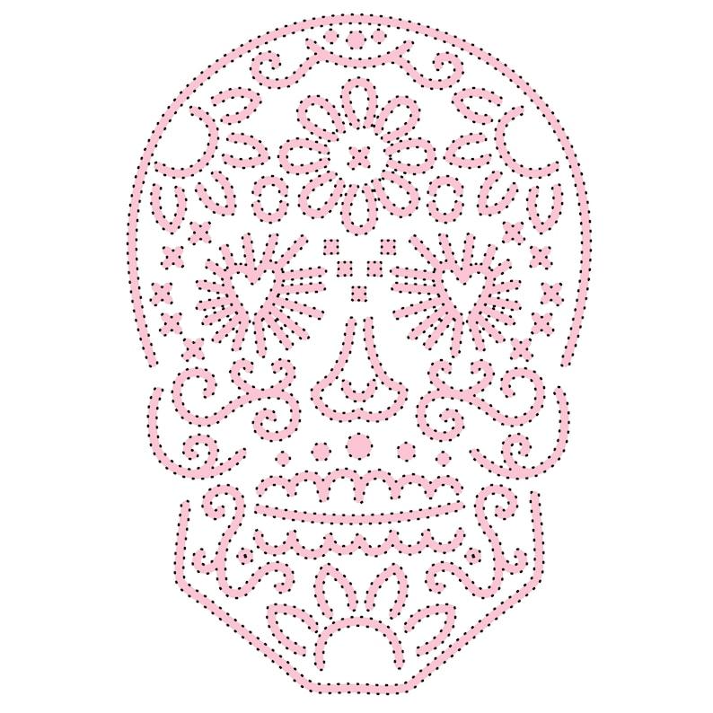 Sketch & Stitch® Sugar Skull cut file .zip folder with image 0