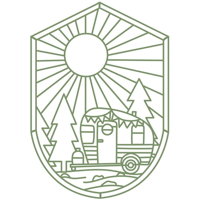 Camper Scene Cut File .SVG .DXF .PNG .pdf image 0