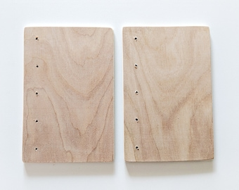"""Coptic Bookbinding Wooden Covers 4x6"""" WITH HOLES"""