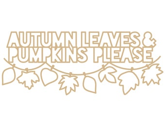 Autumn Leaves and Pumpkins Please Cut File (zip folder with .svg, .dxf, .png, .pdf, and .studio3 files)