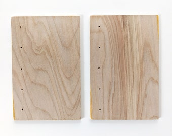 """Imperfect Coptic Bookbinding Wooden Covers 4x6"""" WITH HOLES"""