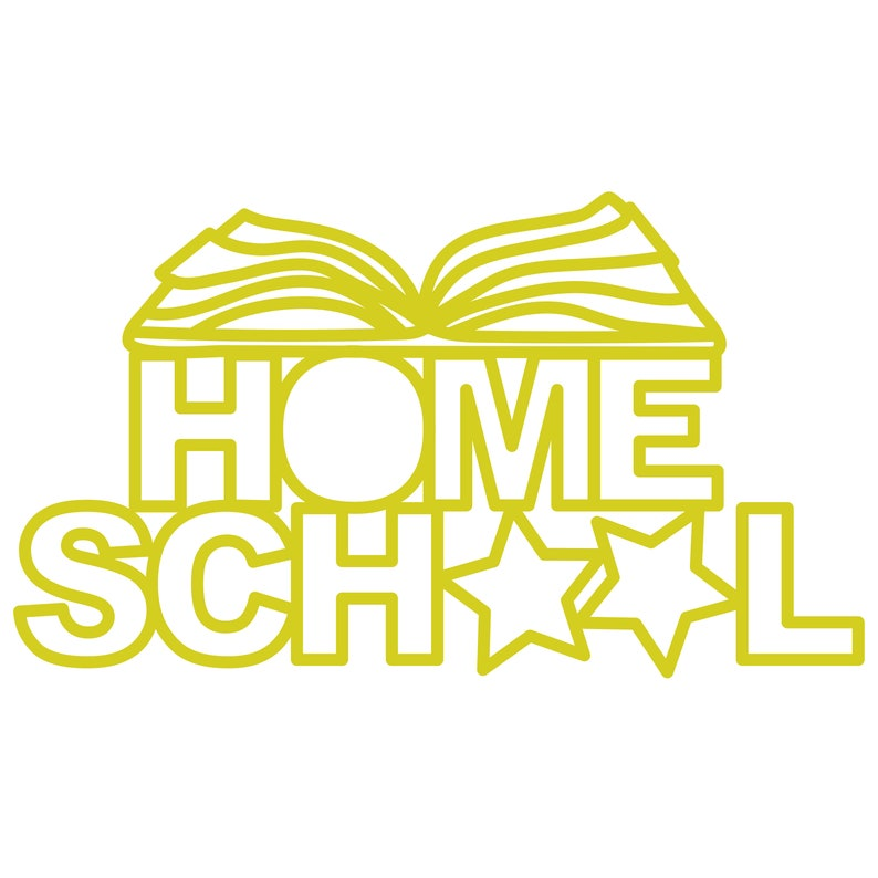 Homeschool Cut File zip folder with .svg .dxf .png .pdf image 0