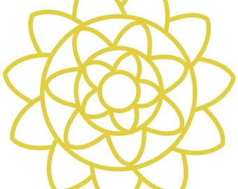 Concentric Flowers Cut File .SVG .DXF .PNG