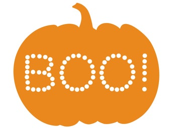 Boo Pumpkin Cut File (zip folder with .svg, .dxf, .png, .pdf, and .studio3 files)