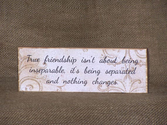 Wood Decoupage Sign, True Friendship Bridesmaid Quote Home Decor, Wedding  Maid of Honor Friend Plaque, Bridal Shower Gift Traditional Rustic