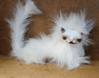 """Cat Bjd or Blythe prop art plush can be customized """"Mia style"""""""