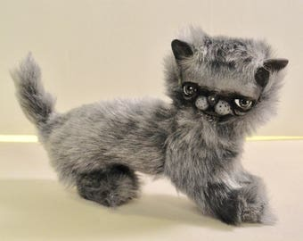 Bjd or Blythe cat prop gray art doll plush can be customized
