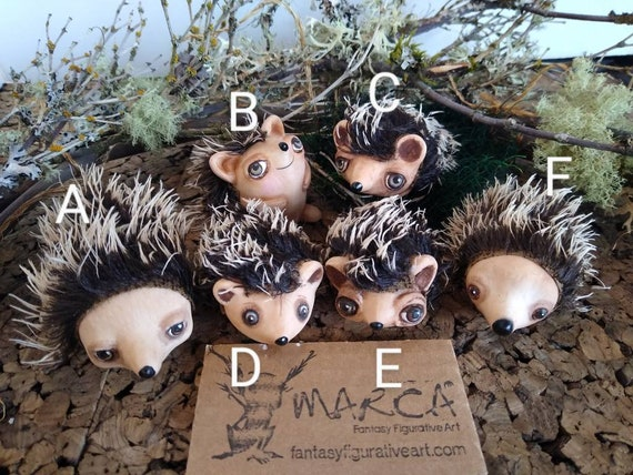 Herdgehogs 6 styles to choose from BJD Blythe prop German mohair and woodland miniature handmade