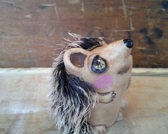 Hedgehog art doll bjd prop kids room decor WOODLAND PARTY FAVOR