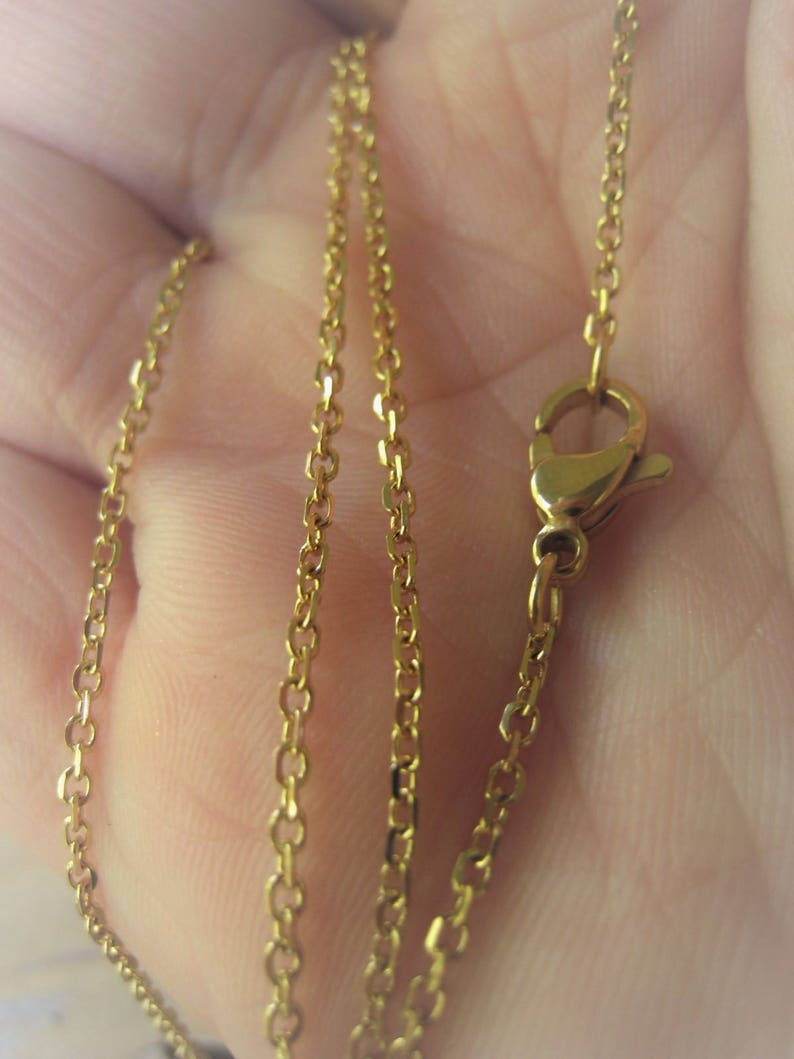 Stainless Steel Gold Cable Chain Necklace Minimalist Gold Chain Item No JE6409