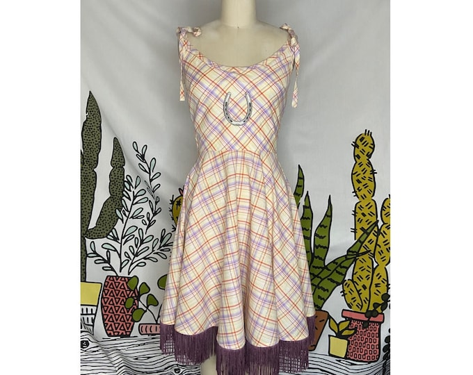Emmylou Dress in Yellow Plaid
